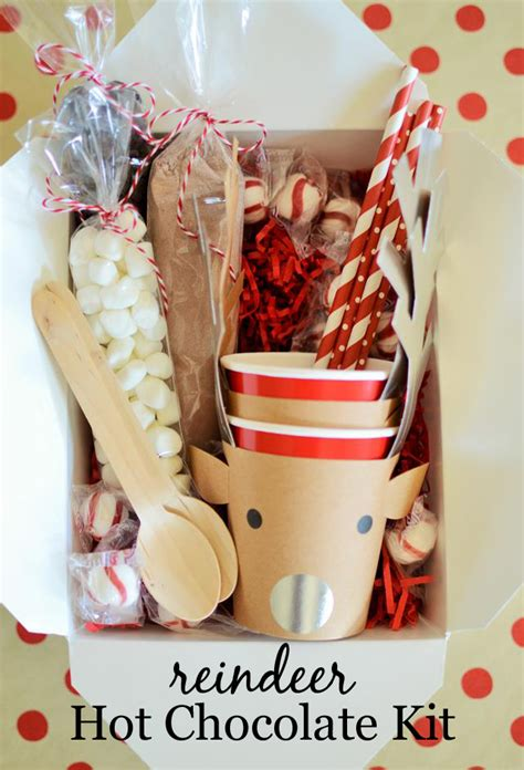 reindeer hot cocoa kit christmas gifts for kids party
