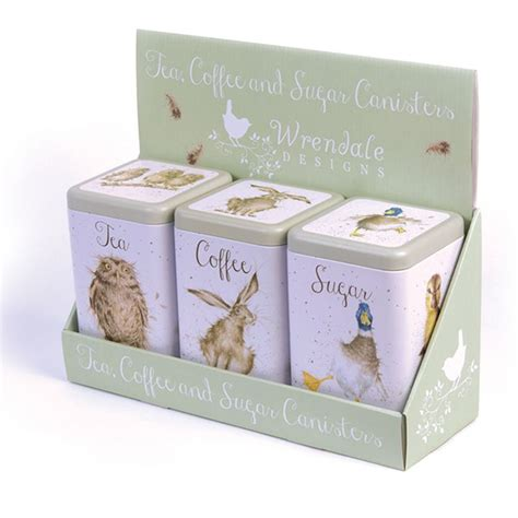 kitchen canister set of 3 featuring white ducks in tin 25 best ideas about tea coffee sugar canisters on