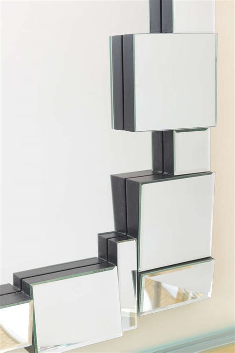 multi faceted rectangle mirror at 1stdibs
