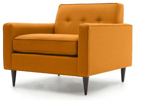 mid century modern living room chairs jefferson mid century modern chair klein citrus orange