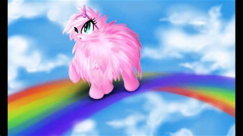Rosy Puff pink fluffy unicorns on rainbows fluffle puff www imgkid the image kid has it