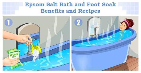 Soaking In Bathtub Benefits by Epsom Salt Bath And Foot Soak Benefits And Recipes