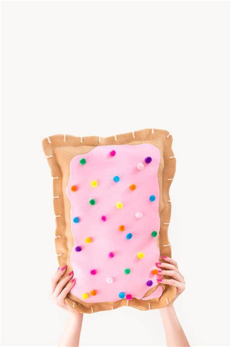 Pop Pillow by 187 Diy No Sew Pop Tart Pillow