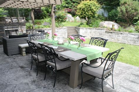 Concrete Outdoor Furniture Traditional Patio Outdoor Patio Furniture Vancouver