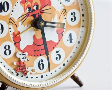 childrens alarm clock cat and mouse play desk clock russian alarm clock room clock