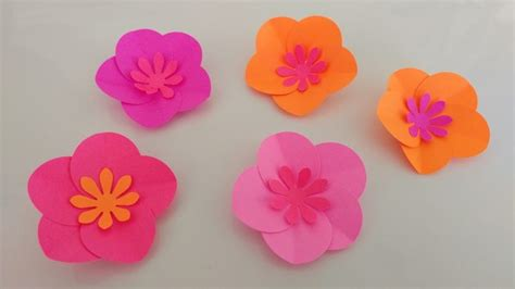 Simple Paper Flower - paper flowers diy easy www pixshark images