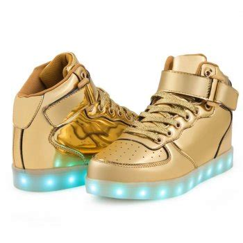 light up shoes with remote led shoes kids high top gold remote