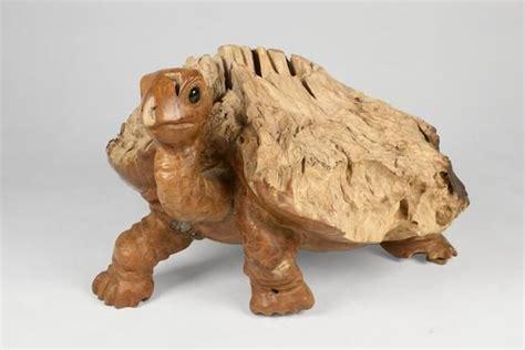 teak turtle sculpture iii   turtle sculpture