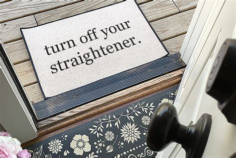 turn your straightener rug the original turn your straightener 174 printed doormat