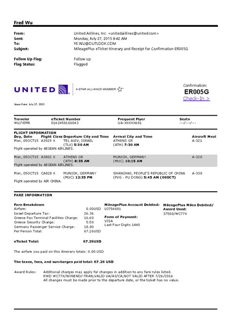 United Airlines Complaint Letter Sle United Airlines E Ticket Pictures To Pin On Pinsdaddy