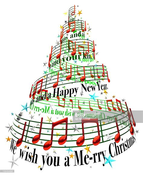 musical notes christmas tree image tree stock illustration getty images