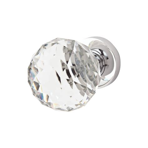 Jedo Cut Glass Door Knob Polished Chrome Ironmongerydirect Cut Glass Door Knobs