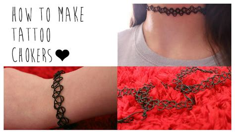 diy how to make your own tattoo chokers youtube