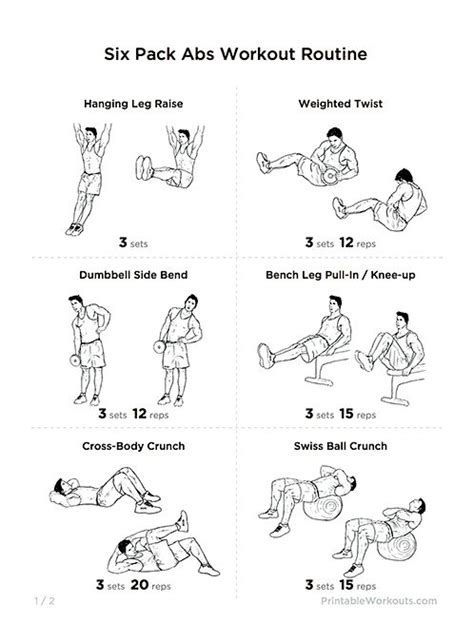 1000 ideas about six pack abs workout on six