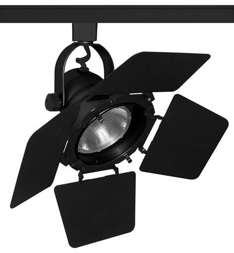 Lighting Barn Doors Trac Master T292 Studio Ii Par30 Track Light With Barn Doors Contemporary Track Heads And