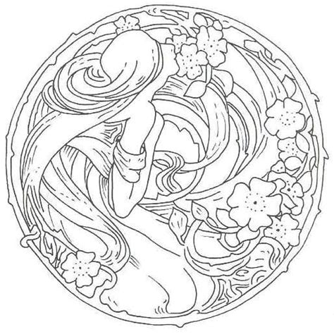 printable art deco designs free art nouveau designs coloring pages