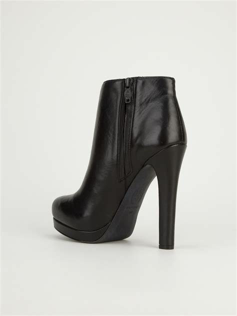 high heel boot shoes ash high heel ankle boot in black lyst