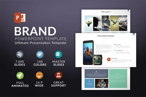 Brand Powerpoint Template Presentation Templates On Creative Market Branded Powerpoint Template