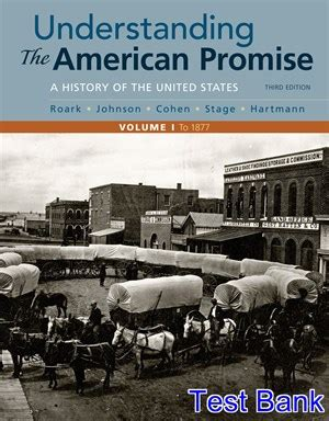 The American Volume 1 Search For My Understanding The American Promise Volume 1 A History To 1877 Archives Solutions