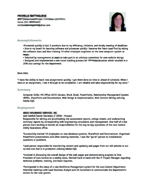 different resume styles we written for clients yelp