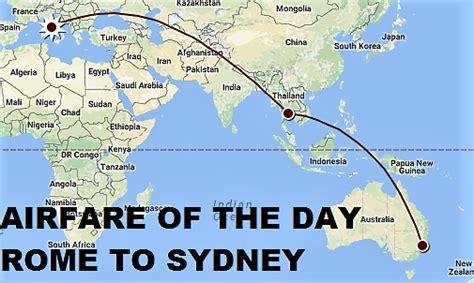 airfare   day thai airways fco bkk syd usd  rt business class loyaltylobby