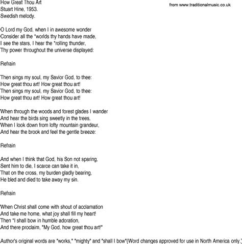printable lyrics how great thou art how great thou art lyrics genacas lonas