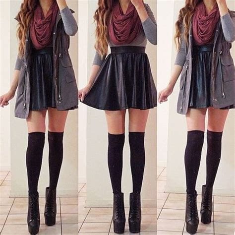 fall for with knee high socks circle