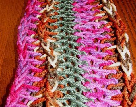 how to make a finger knit scarf wider figaflors i braves finger knitting scarf
