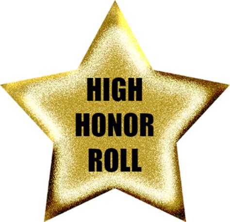 Do They Announce Honors And High Honors Are Mba Graduation by High Honor Roll Grade 6 1st Marking Period 2016 2017