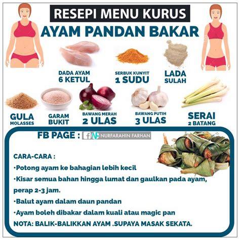 resepi menu  kurus  perlu berlapar