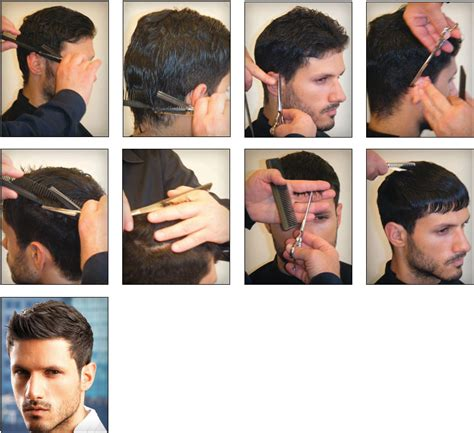mens hairstyle step by step comb for men salon international middle east edition