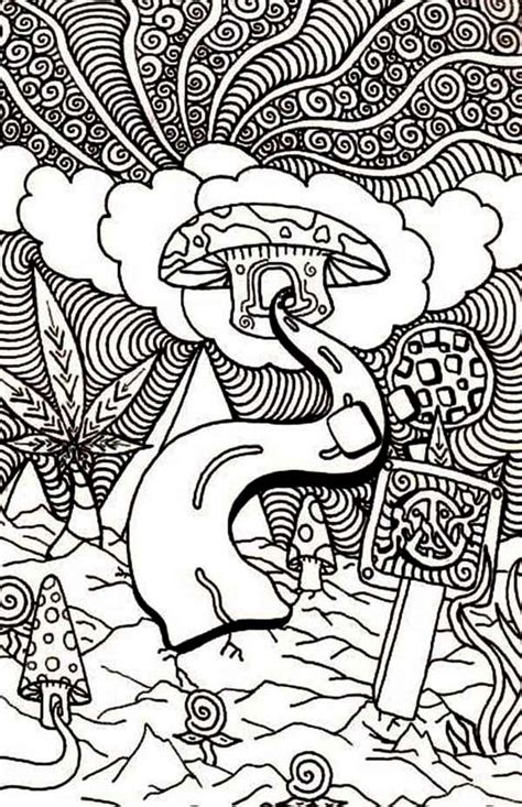 trippy alice in wonderland coloring pages kids coloring