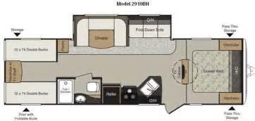 bunk bed rv floor plans used 2012 keystone rv passport 2910bh grand touring travel
