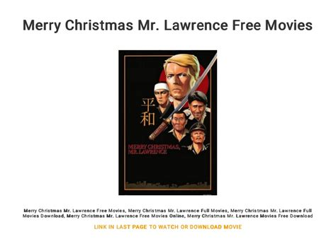 merry christmas  lawrence  movies