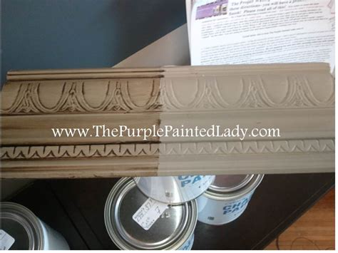 chalk paint white wax coco sle board the purple painted