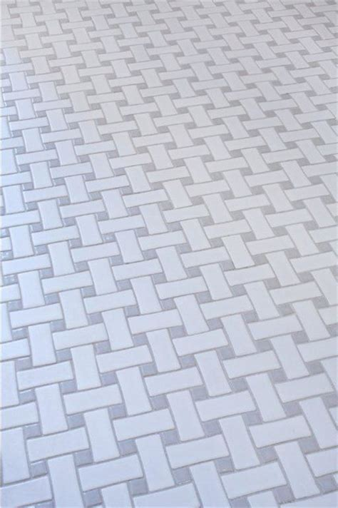 glazed ceramic basketweave tile white and grey contemporary atlanta by mission stone tile