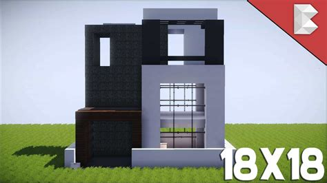 minecraft house designs tutorials minecraft 18x18 modern house tutorial best small modern house minecraft house