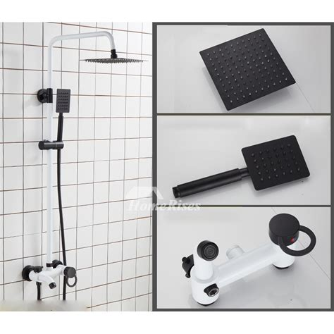 modern shower faucets wall mount white nordic 8 inch brass