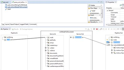 design xml form webmethods how to create a document from an xml string