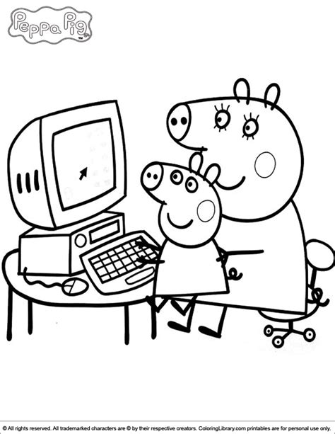 peppa pig muddy puddles coloring pages peppa pig coloring picture