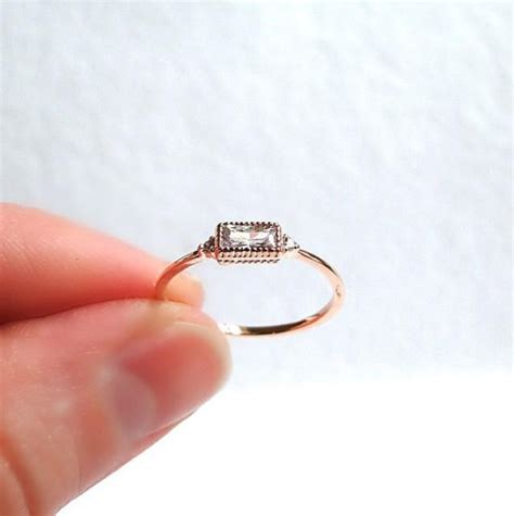 gold filled stacking ring small engagement