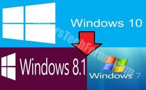tutorial downgrade windows 10 downgrade from windows 10 easy manual sensorstechforum com