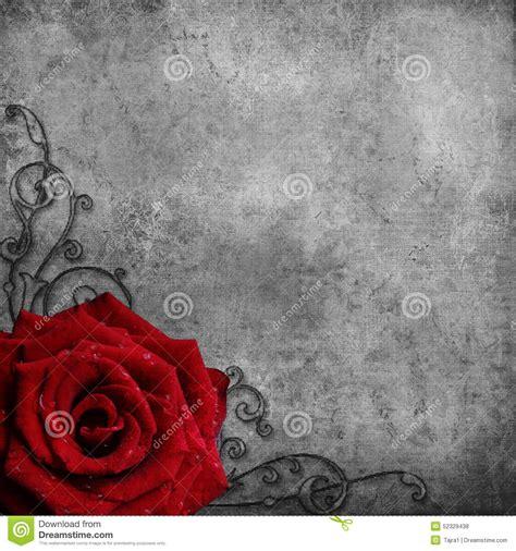 background design red rose retro design background with red rose stock illustration