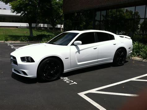 white charger with black rims white dodge charger with rims