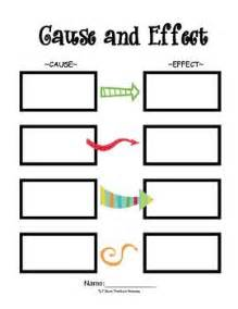 Cause And Effect Template by Pin By Sales On 3rd Grade