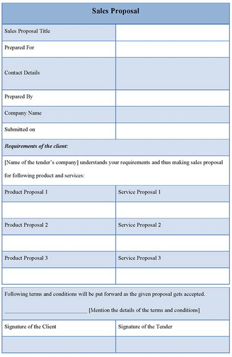 proposals templates template for sales exle of sales