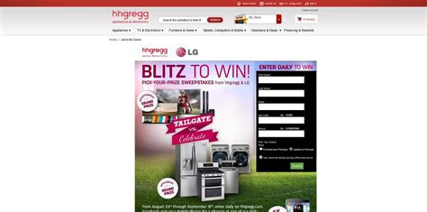 Hhgregg Sweepstakes 2014 - hhgregg blitz to win sweepstakes your choice of an lg entertainment package or lg