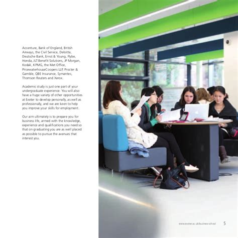 Mba Office Exeter by Undergraduate Brochure Of Exeter Business School