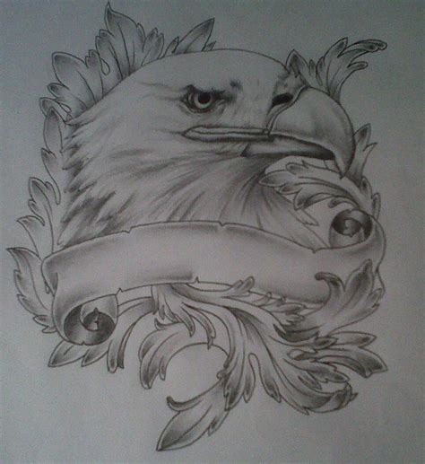 eagle and cross tattoo designs eagle drawing