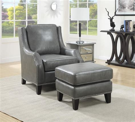 grey leather chair and ottoman gray leather chair and ottoman jens risom grey leather